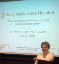 Alice Cash expert on Healing effects of music